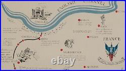 XIX Corps in Action / Le Tomahawk XIX Corps Cracks Siegfried Line Map/Newslette