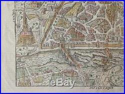 XVIe SIECLE 1575 AUXERRE BELLEFOREST/MUNSTER GRANDE VUE GRAVEE